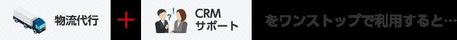 物流代行 + CRMサポートをワンストップで利用すると