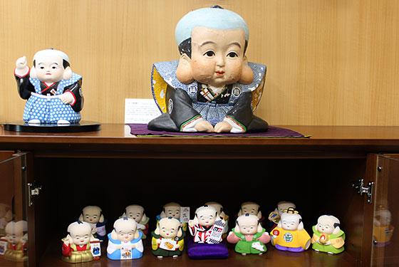 取材時に拝見した福助人形