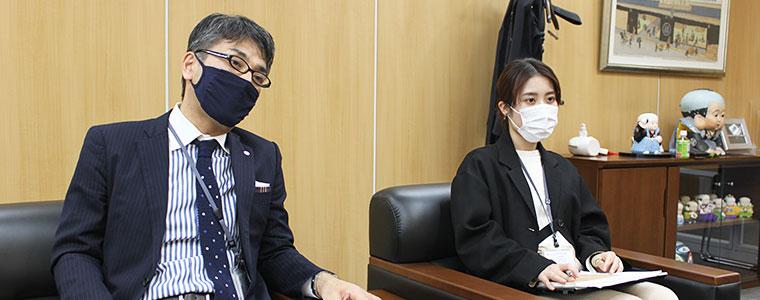 左:執行役員の早川さま、右:WEB事業部の中尾さま