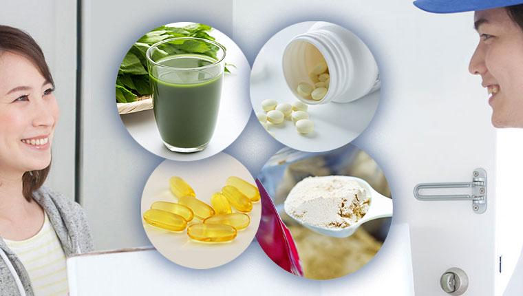 サプリメント・健康食品ECの発送・お届けイメージ