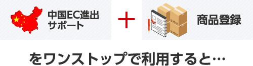 中国EC進出サポート + 商品登録をワンストップで利用すると