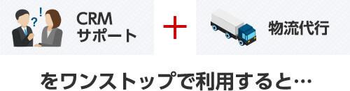 CEMサポート + 物流代行をワンストップで利用すると